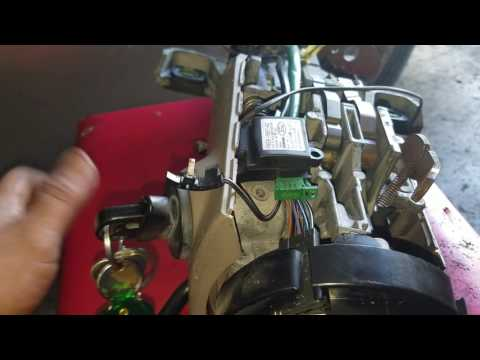 2000 Lincoln Town Car ignition lock cylinder removal