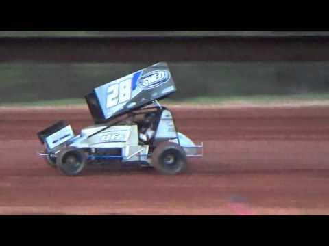 Sabine motor Speedway 305 sprint car hot laps 3/19/16