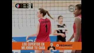 VOLEY PERU VS MEXICO [3-0] - Tailandia 2013 (3er. Set) 25-07-2013