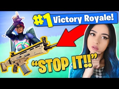 FANS BULLY me with a GOLD SCAR on Fortnite ! - Battle Royale