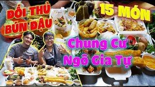 Đối Thủ Bún Đậu 10 Triệu Giao Lưu Team Funny Hùng 15 Món Khu Chung Cư Ngô Gia Tự.