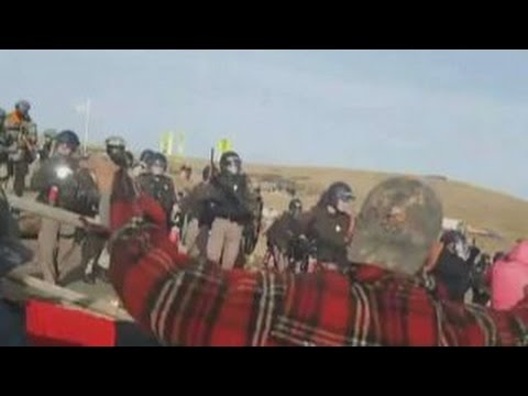 Police mace South Dakota pipeline protesters, arrest 141
