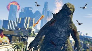 GTA 5 PC Mods - ULTIMATE GODZILLA MOD!! GTA 5 Godzillla Mod Gameplay! (GTA 5 Mods Gameplay)