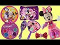 Minnie Mouse Hair Accessories   Cosmetic Set  Bows  Nail Polish  Lip Gloss  Purse