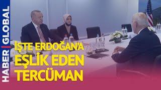 İşte Erdoğan - Biden Arasındaki Tarihi Görüşmeye Eşlik Eden Tercüman
