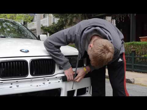 e36 M front bumper Install