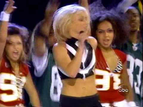 Britney Spears NFL kickoff    Me against the music  Ba one more time  Slave 4 U