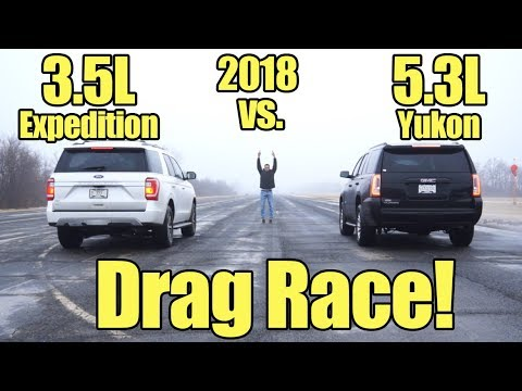 2018 Ford Expedition vs GMC Yukon Drag Race! Compare these SUV's with a Kunes Country Prize ...