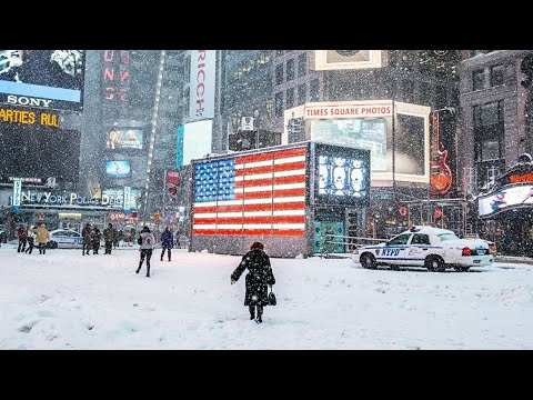 HARD WINTER in NEW YORK CITY!