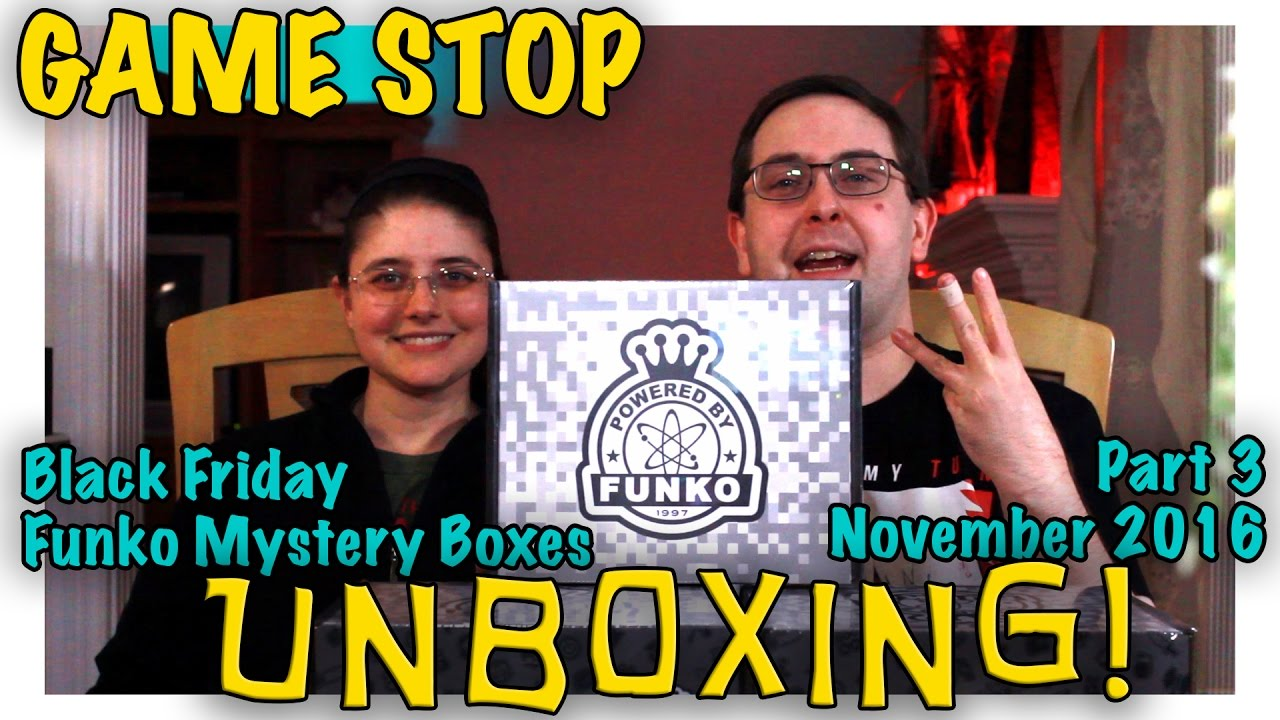 Unboxing Gamestop Black Friday Funko Mystery Boxes Part 3