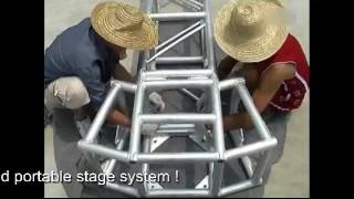 How to sed up outdoor aluminum truss tent system