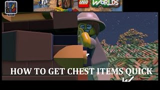 LEGO Worlds How To Get Chest Items Quickly!