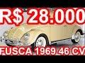 PASTORE R$ 28.000 Volkswagen Fusca 1300 1969 MT4 RWD Boxer-4 46 cv