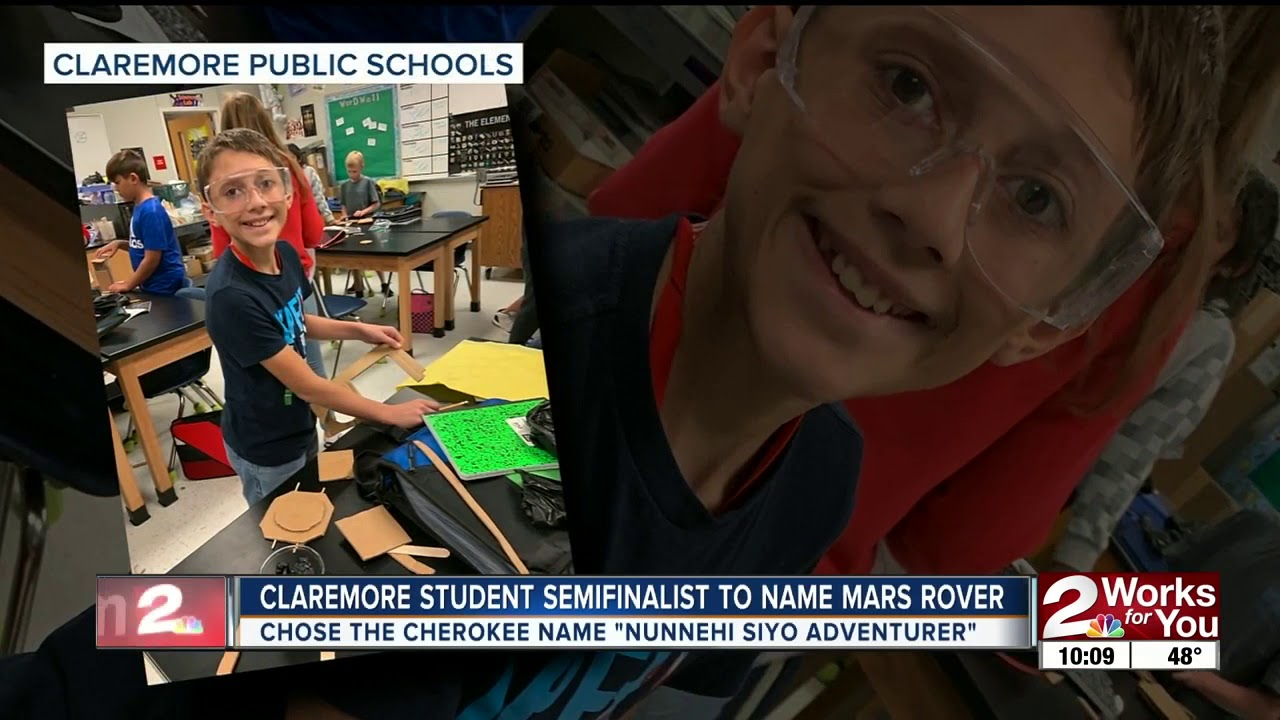 Claremore student semifinalist to name Mars rover - KJRH -TV | Tulsa | Channel 2