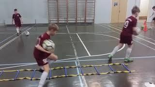 Тренировка на технику по футболу для детей 11 - 12 лет