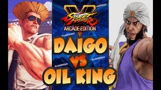 Daigo Umehara [Guile] vs Oil King [Rashid] - FT2 - Street Fighter V Arcade Edition