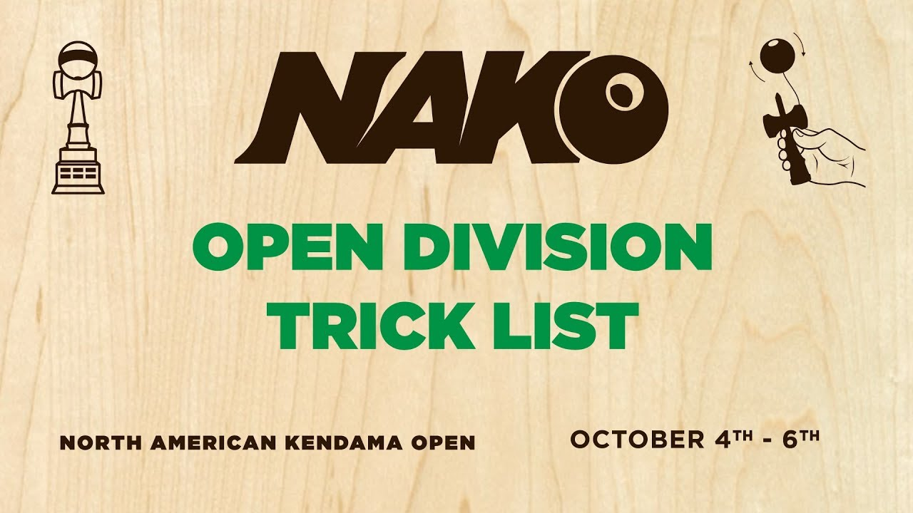 Open Division Trick List - NAKO 2019 - Sweets Kendamas