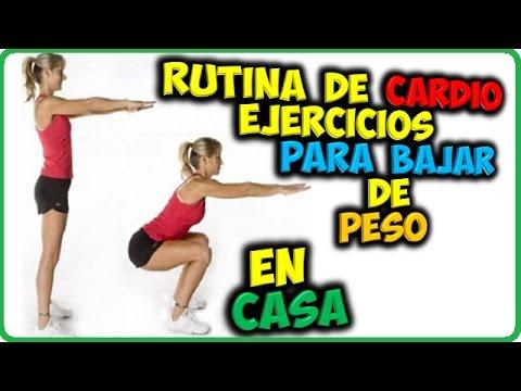 Rutinas de ejercicios para bajar de peso en casa para mujeres
