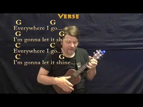 This Little Light Of Mine (Spiritual) Ukulele Cover Lesson In G With Chords/Lyrics