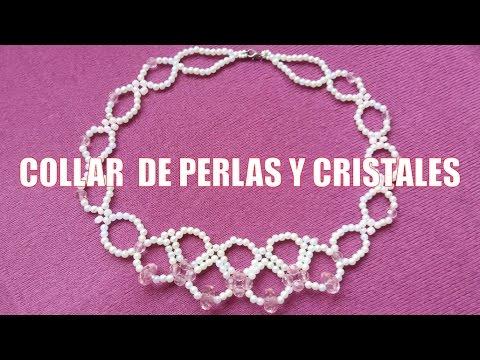 5837c2fe1dcd Collar de perlas y cristales - Bisutería Fina (Tutorial paso a paso ...