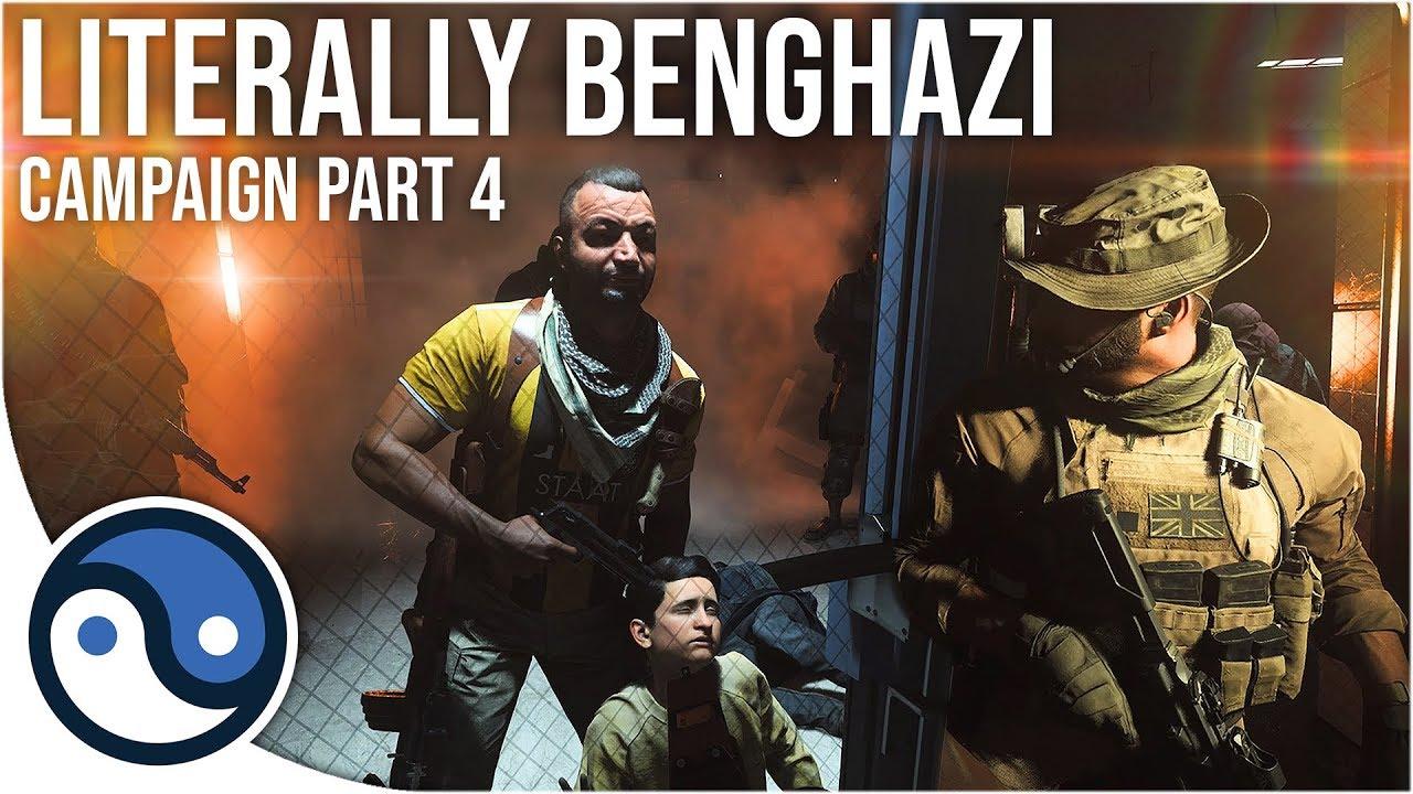 Literalmente Benghazi (Call of Duty: Modern Warfare Campaign Part 4 Sem análises permite jogar) + vídeo