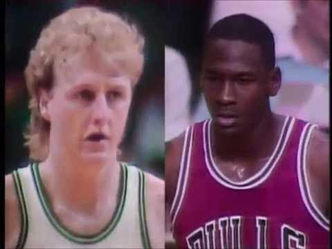 NBA on CBS Intro prior to Bulls-Celtics Game 2 (1986)