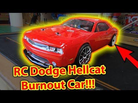 RC Dodge Hellcat Burnout Car