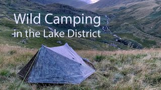 Wild Camping in tнe Lake District in an Overnight Storm