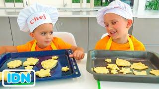 Vlad dan Niki membuat sarapan untuk ibu