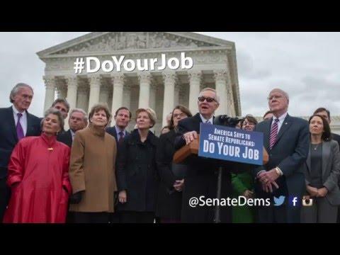 Senate Democrats tell Senate Republicans: DO YOUR JOB