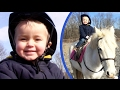 2 Year Old's First Horse Riding Lesson!