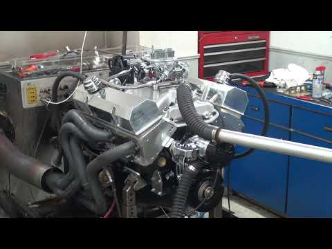 SBC 480HP 383 STROKER ENGINE DYNO RUN FOR MIKE ERWIN BY WHITE PERFORMANCE AND MACHINE