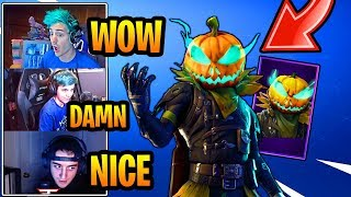 STREAMERS REACT to *NEW* HOLLOWHEAD SKIN!!! (EPIC) Fortnite FUNNY & EPIC Moments