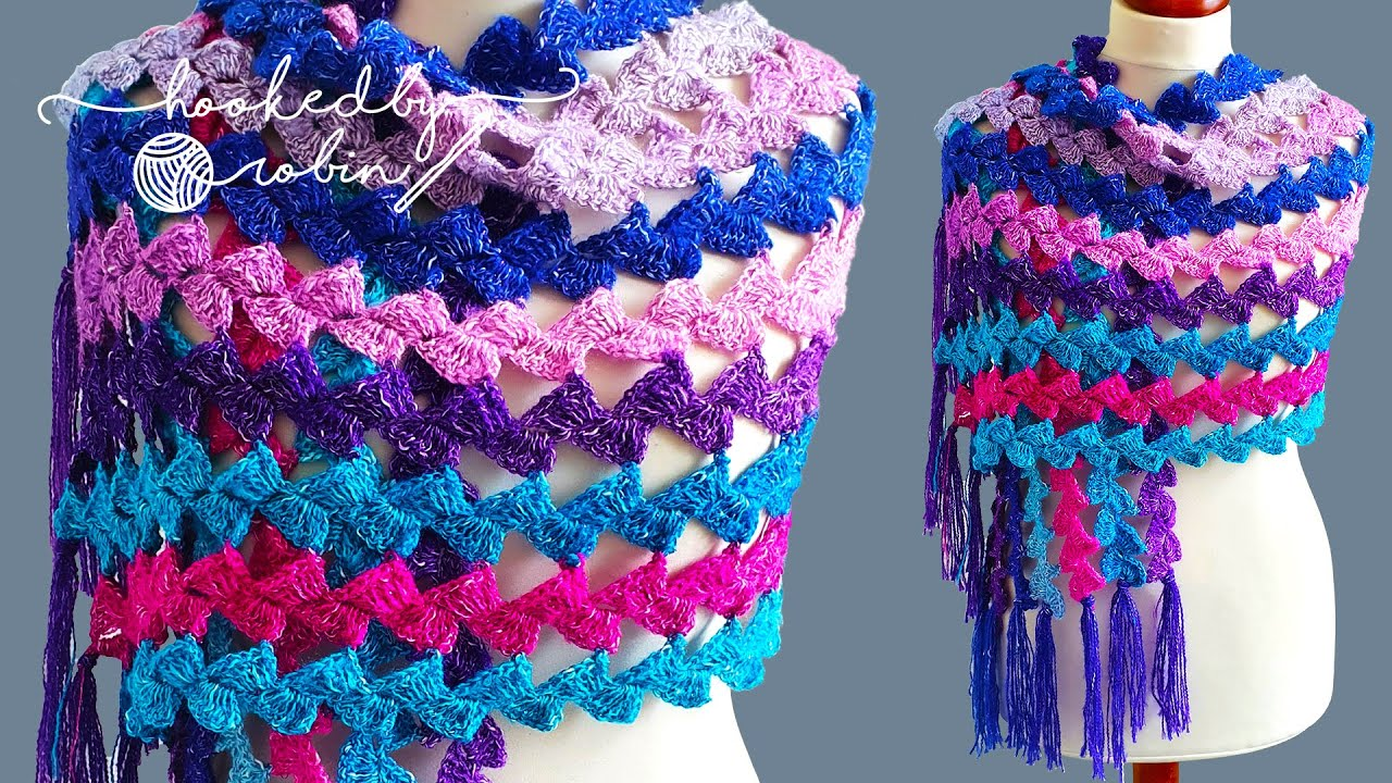 Crochet Mile A Minute Shell Wrap / Scarf