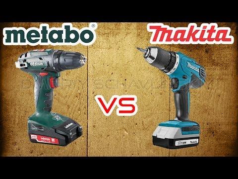 КАКОЙ ШУРУПОВЕРТ ВЫБРАТЬ ?  Makita DF457DWE vs Metabo BS 18 / Сравнительный обзор