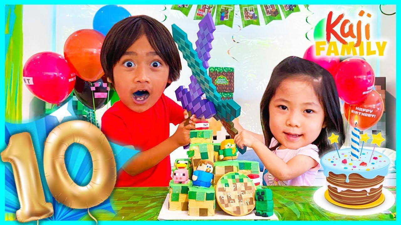 Ryan's 10TH HAPPY BIRTHDAY Minecraft Party!
