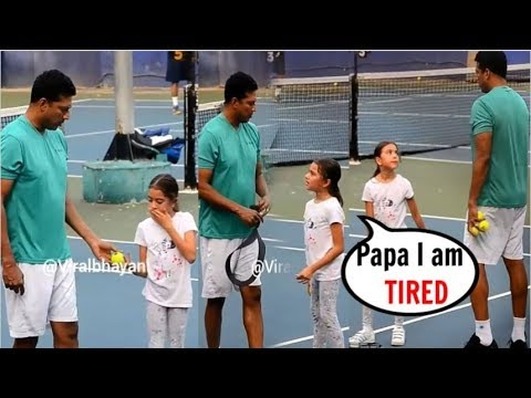 Lara Dutta's Husband Mahesh Bhupathi Give TOUGH Training to Daughter Saira Bhupathi