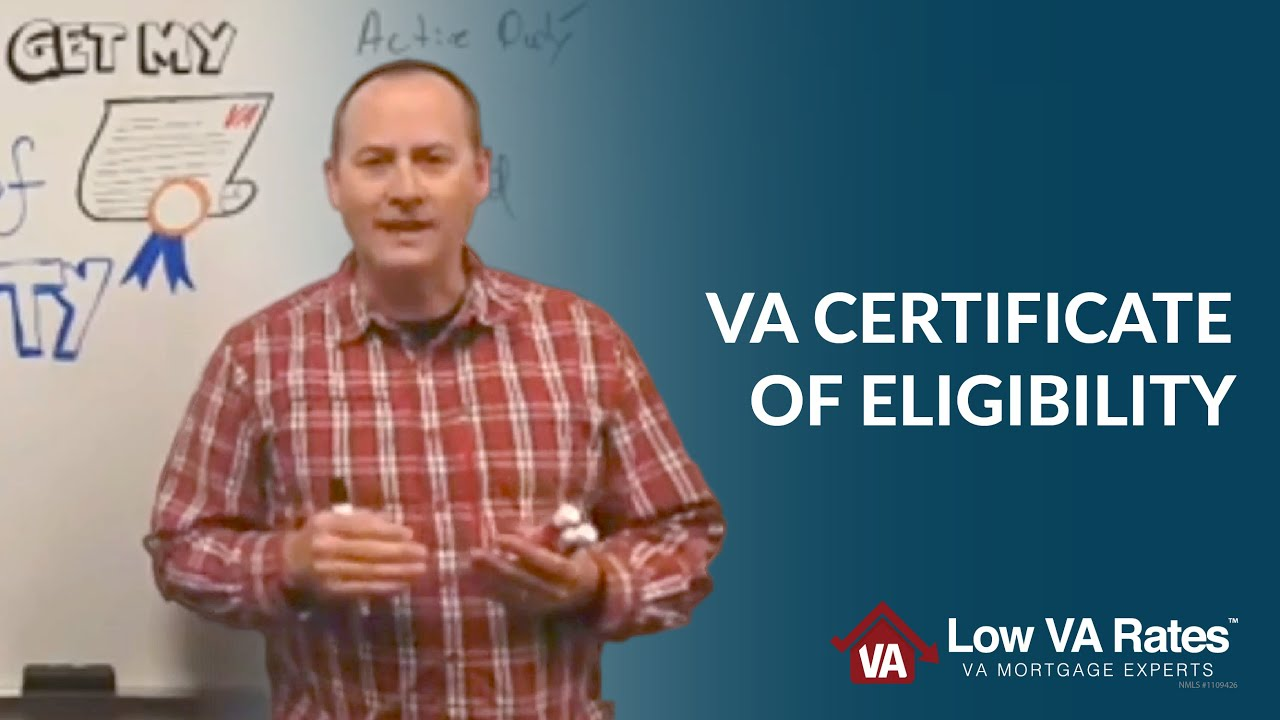 Va Certificate Of Eligibility Va Coe Youtube