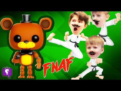 HobbyKarate vs FREDDY FNAF! SURRPISE TOYS Review with HobbyKidsTV