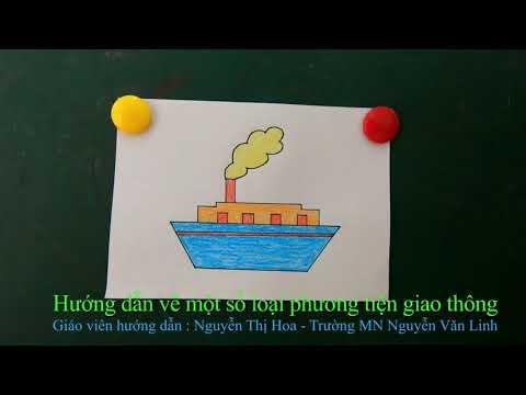 """MG 4-5 tuổi: Đề tài """"Vẽ một số Phương tiện giao thông"""""""