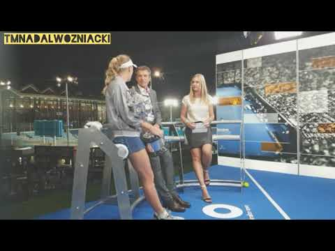 Caroline Wozniacki stops at Eurosport studio after Australian Open victory 🏆