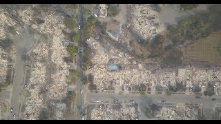 Drone footage of fire damage in Santa Rosa | Los Angeles Times