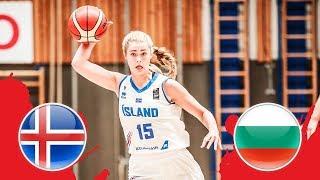 Iceland v Bulgaria - CL 19-20 - Full Game - FIBA U18 Women's European Championship Division B 2018