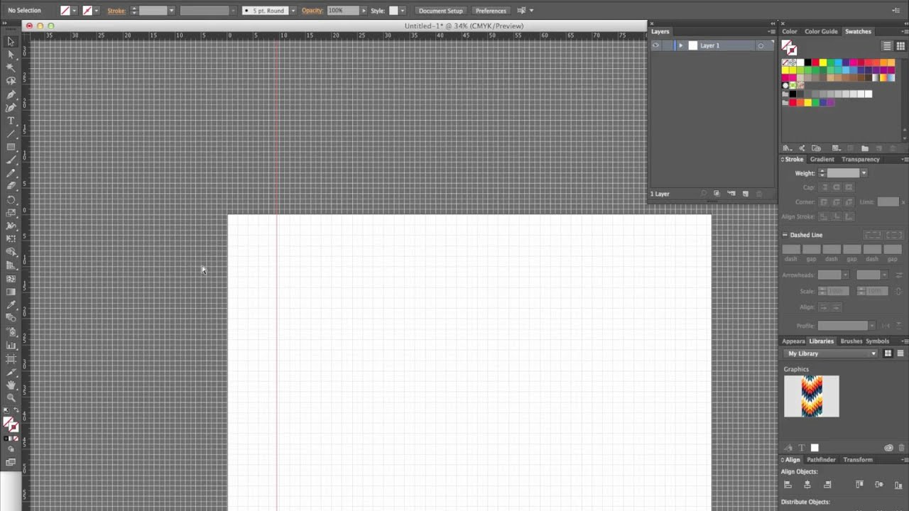 How To Set Up An Adobe Illustrator File For A Silk Scarf Design