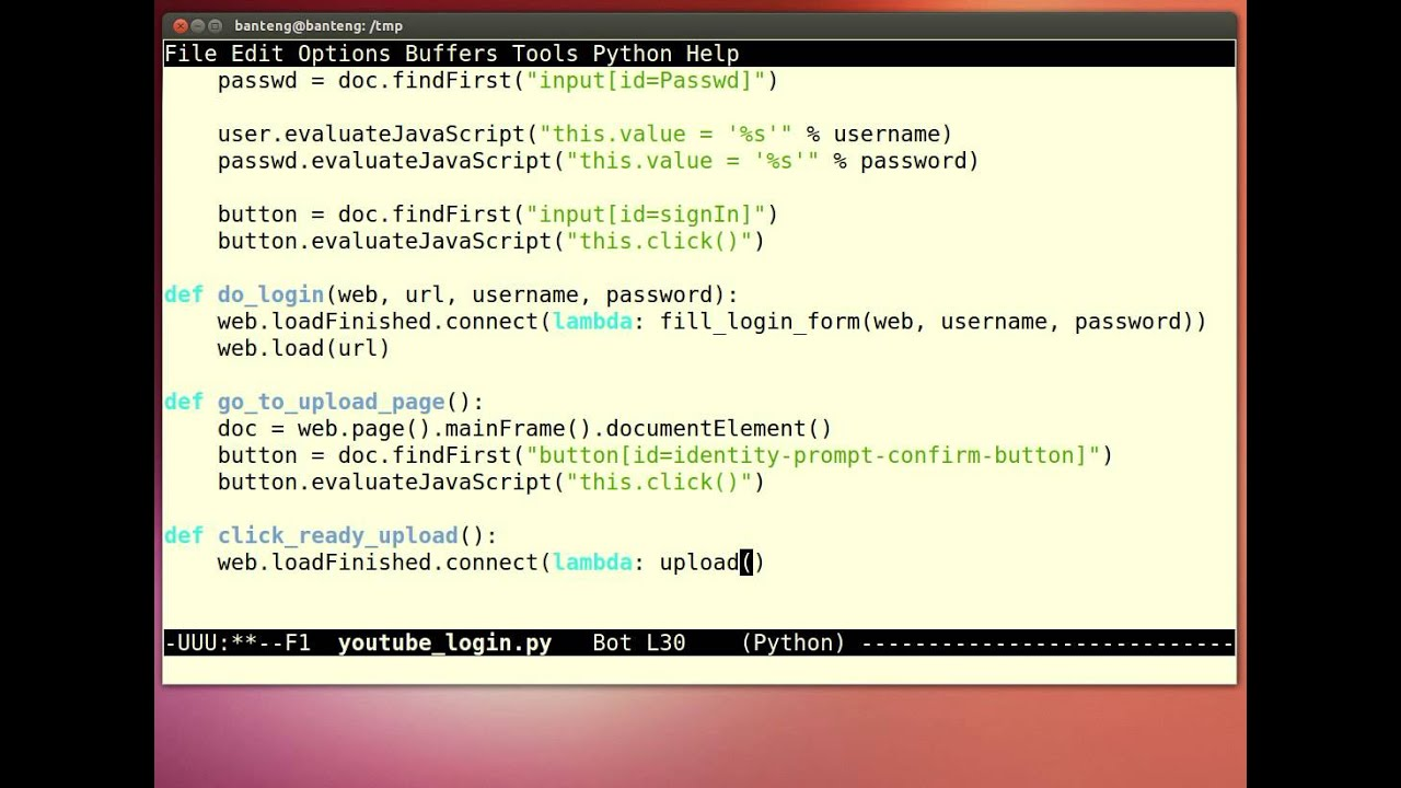 Python - Youtube Login with PySide PyQt QWebView Javascript Support