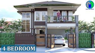 Two Storey House Design, 4 Bedroom