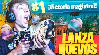 EPIC VICTORIA CON EL LANZAHUEVOS de FORTNITE: Battle Royale!! - Agustin51