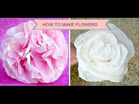 Baby Shower Decorations DIY Tissue Paper Poms Poms.wmv