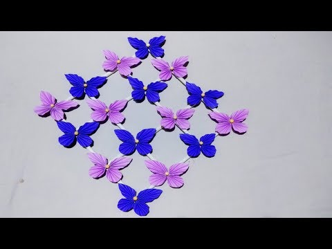 DIY : Paper Butterfly Wall Hanging /diy art and craft ideas/Wall Decoration ideas/Creative Art