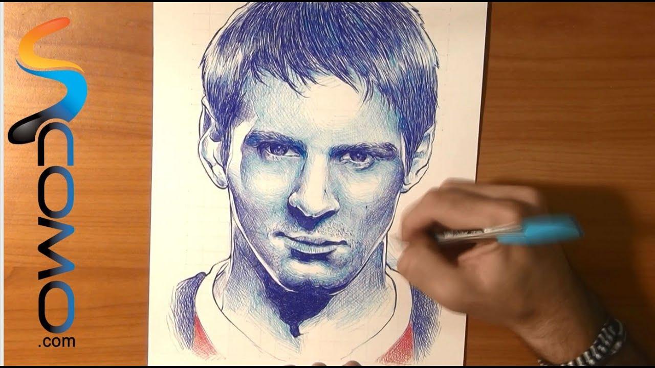 Dibujo de Messi  Draw Lionel Messi  YouTube